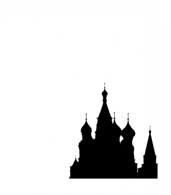 Three Sisters poster with silhouette of Russian onion shaped domes