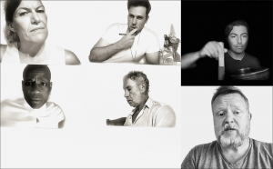 DO MORE Banner. Collage of actors faces