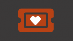 Ticket with heart icon