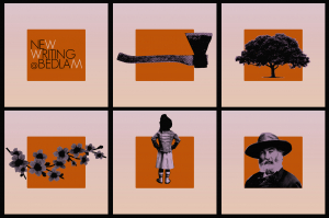 new writing collage of icons poster