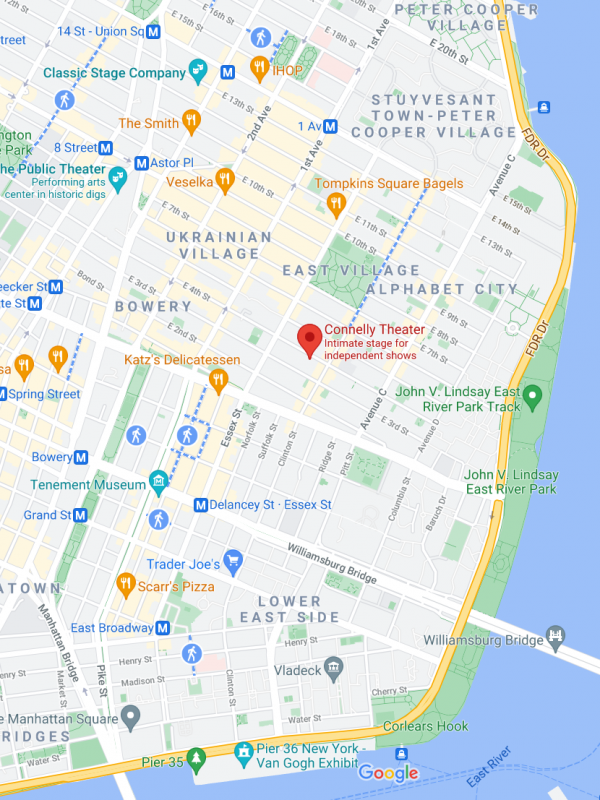 Google Map to the Connelly Theater